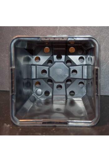 Maceta Cuadrada 9X9X9,50 CM Negra 10 Unidades